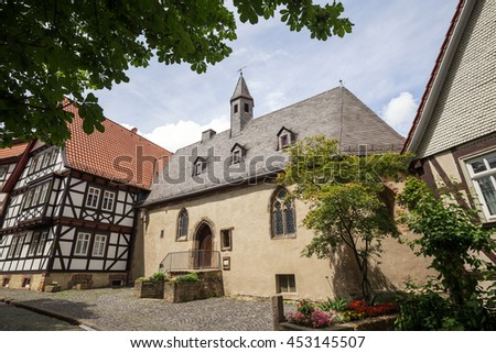historic town alsfeld hessen germany