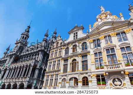 historic town hall and guildhalls at the Grand Place in Brussels, Belgium