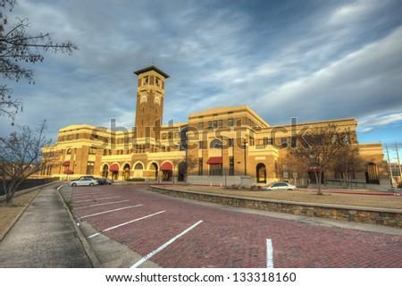 Historic Union Station in Little Rock, Arkansas. - stock photo