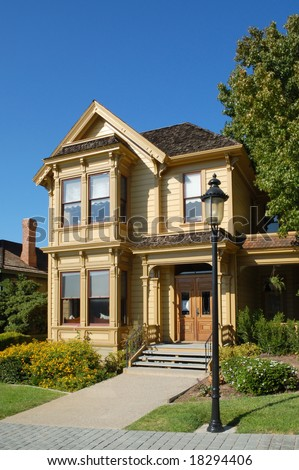 Historic Victorian homes; Heritage Park; Old Town; San Diego, California