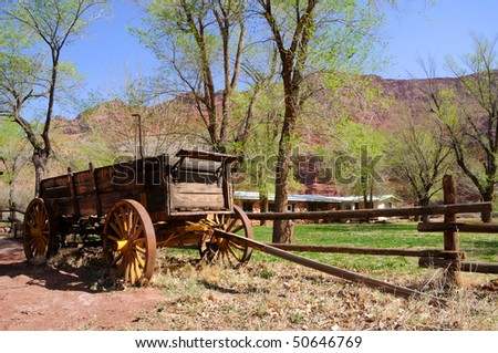 Historic Wagon at Lonely Dell Ranch