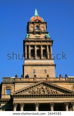 Historic Wayne county building - stock photo