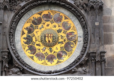 Historical astronomical Clock in Prague