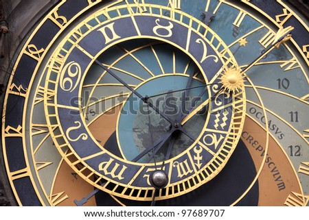 Historical astronomical Clock in Prague on Old Town Hall
