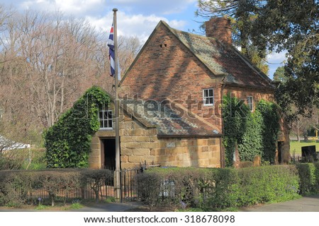 Historical building Cooks cottage in Fitzroy Garden Melbourne Australia  - stock photo
