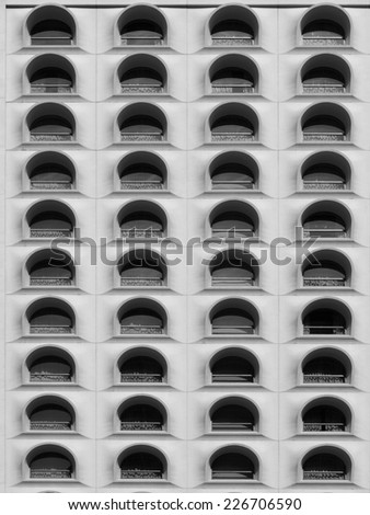 Historical Building in Black and White - stock photo