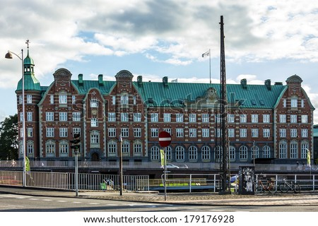 Historical building in Copenhagen, Denmark - stock photo