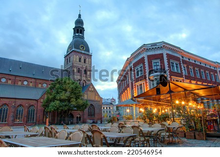 Historical building of Riga Dome Cathedral, Latvia.  - stock photo