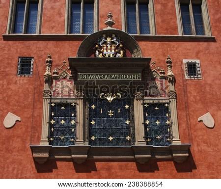 historical building , Town Square of Prague, CZECH REPUBLIC - stock photo
