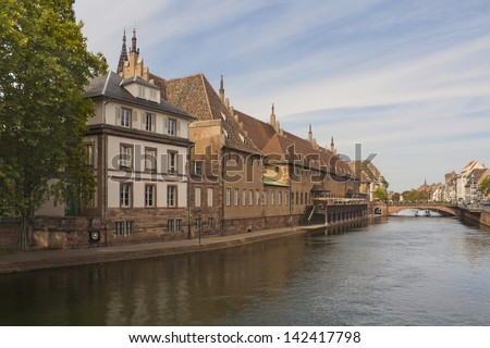 Historical buildings in Strasbourg, France