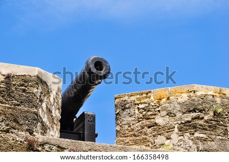 historical cannon at castillo san marcos, st. augustine, florida - stock photo