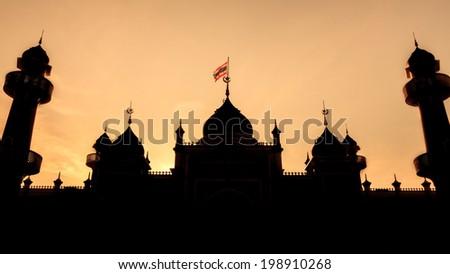 Historical Capital Mosque, Pattani Thailand - stock photo