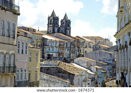 Historical Center aka Pelourinho - Salvador de Bahia - Brazil - stock photo