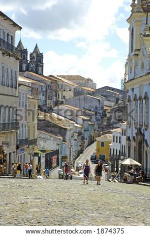 Historical Center aka Pelourinho - Salvador de Bahia - Brazil - stock photo