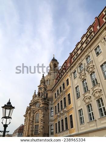 Historical center of Dresden (landmarks), Germany    - stock photo