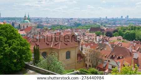 Historical center of Prague, Czech Republic - stock photo