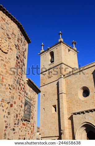 Historical centre of Caceres, Extremadura, Spain. UNESCO World Heritage Site.