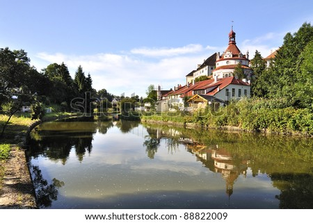 Historical chateau Jindrichuv Hradec - stock photo