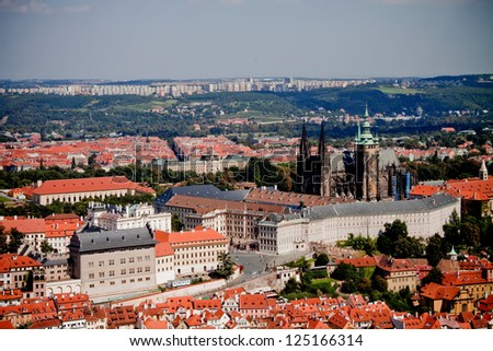 historical districts of Prague - stock photo
