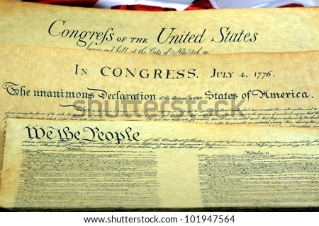 Historical Documents - United States of America Bill of Rights - stock photo