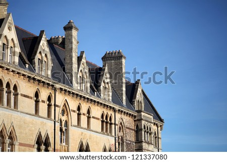 Historical facade of a building in Oxford - stock photo