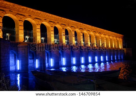 Historical hydroelectric station - stock photo