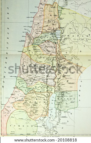 Historical map palestine ancient israel photo stock photo edit now historical map of palestine ancient israel photo from atlas published in 1879 in gumiabroncs Image collections