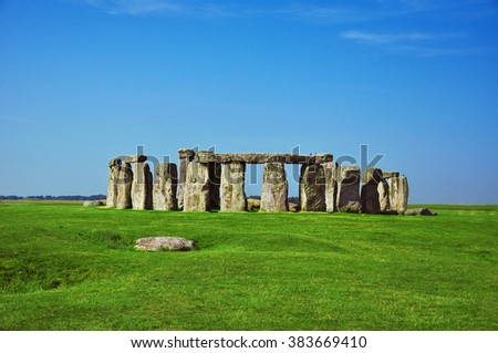 Historical monument Stonehenge, England - stock photo