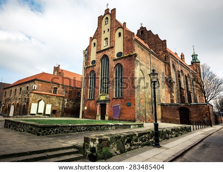 Historical Old Town of Gdansk in Poland - stock photo