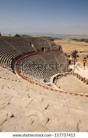 Historical Outdoor Theater at Hierapolis Turkey