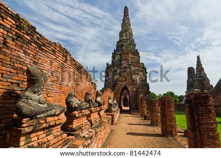 Historical Park In Ayuthaya,Thailand - stock photo