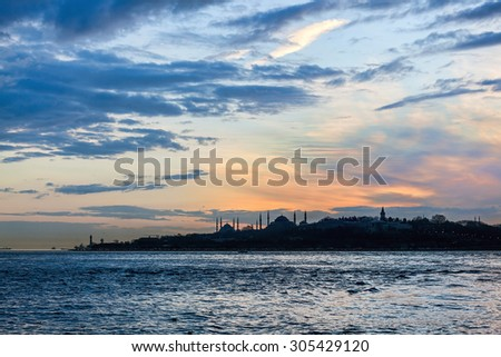 Historical peninsula of Istanbul - stock photo