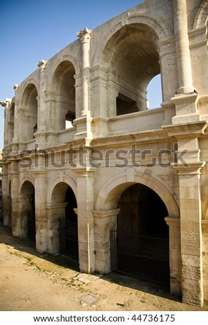 Historical Roman Arena in Arles, Provence, France