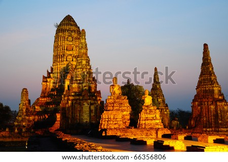 Historical Temple in Thailand - stock photo