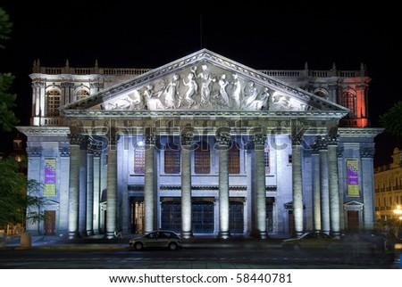 Historical Theatre in Guadalajara, Jalisco, Mexico - stock photo
