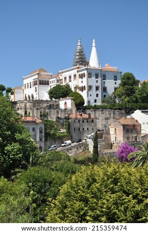Historical town Sintra near Lisboa in Portugal.