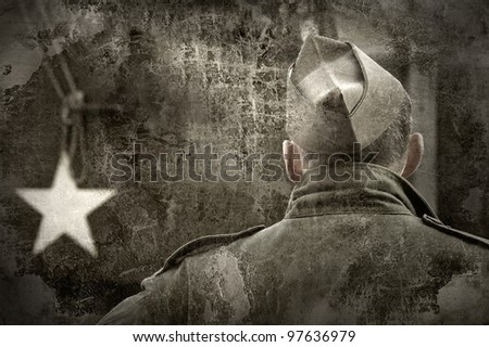 Historical US Army soldier - stock photo