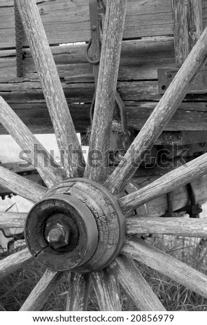 Historical Wagon Wheel - stock photo