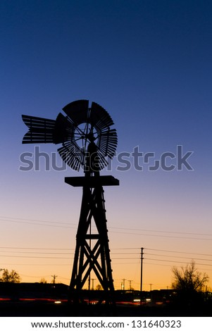 Historical windmill at the 17mile House Farm Park, Colorado.