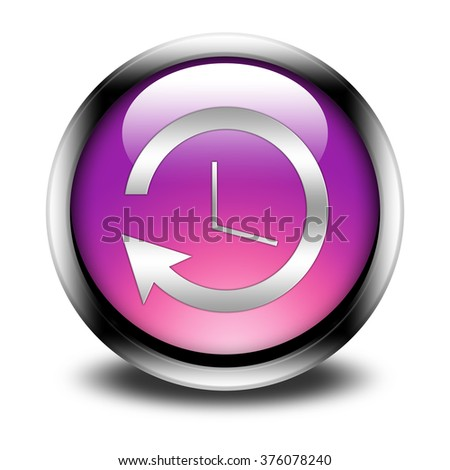 History button isolated on white background.  - stock photo