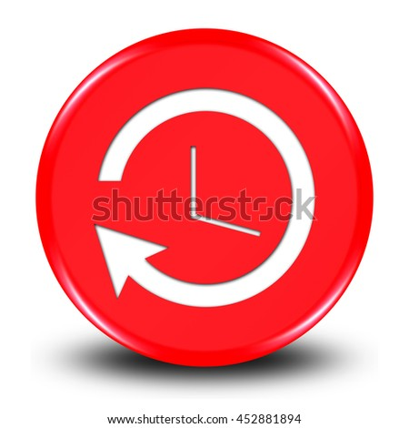 "History button isolated on white background. ""3d illustration""  - stock photo"