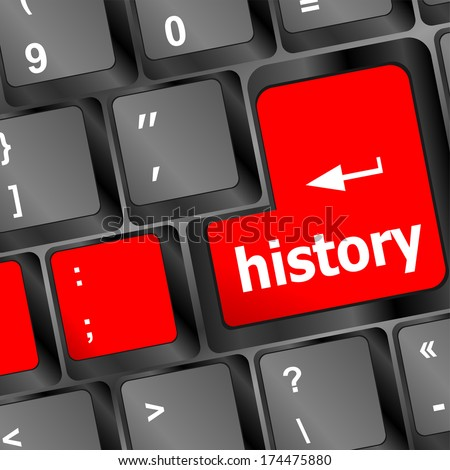 history button on computer keyboard pc key