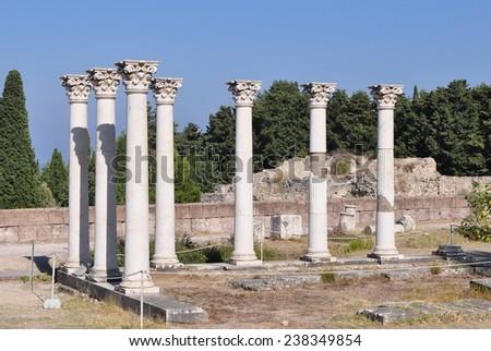 history of Kos island,Greece  - stock photo