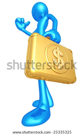 Hitchhiking With Dollar - stock photo
