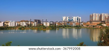 Hitec city is a information technology hub in Hyderabad, India - stock photo