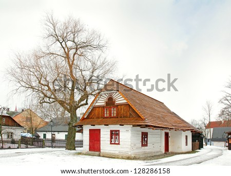 HLINSKO, CZECH REPUBLIC - FEBRUARY 9: Betlem (Bethlehem) is folk architecture, documents the method of lifestyle from the 18th to the beginning of the 20th century on February 9, 2013 in Hlinsko.