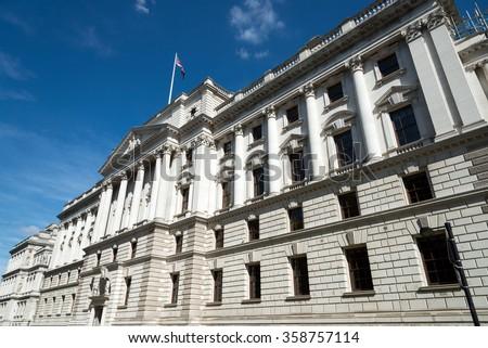 HM Treasury building, London, England, UK - stock photo