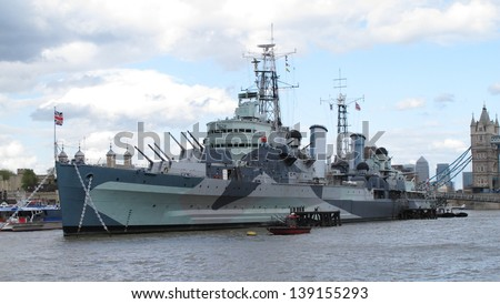 HMS Belfast London uk