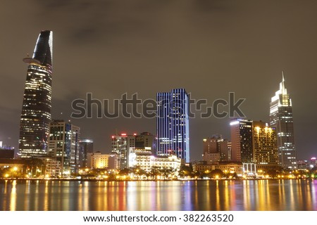 Ho Chi Minh City By Night, Long Exposure, Saigon Night