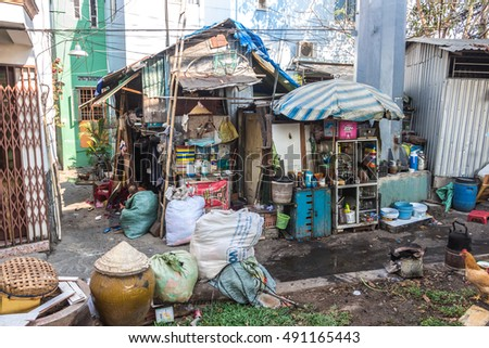 Delightful HO CHI MINH CITY, VIETNAM   MARCH 15, 2016. Extremely Poor Self
